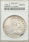 Early Dollars, 1798 $1 Large Eagle, Pointed 9 -- Damaged, Cleaned -- ANACS. B-8,BB-125, R.2....