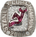 Hockey Collectibles:Others, 2000 New Jersey Devils Stanley Cup Championship Ring....