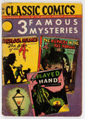 Golden Age (1938-1955):Classics Illustrated, Classic Comics #21 - 3 Famous Mysteries - Edition 1A (Gilberton,1944) Condition: GD....
