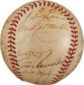 Autographs:Baseballs, 1952 New York Yankees Team Signed Baseball with Joe DiMaggio &Marilyn Monroe....
