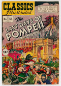 Golden Age (1938-1955):Classics Illustrated, Classics Illustrated #35 The Last Days of Pompeii - First Edition(Gilberton, 1947) Condition: FN....