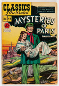 Golden Age (1938-1955):Classics Illustrated, Classics Illustrated #44 Mysteries of Paris - First Edition (Gilberton, 1947) Condition: VG....