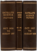Books:Periodicals, Group of Fourteen Issues of Satellite Science Fiction. NewYork: Renown, 1956-1958. Three volumes, the first two com...(Total: 3 Items)