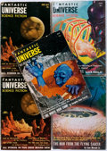 Books:Science Fiction & Fantasy, Sam Merwin, Jr., Editor. Five Issues of Fantastic Universe. New York: King-Size Publications, 1953-1955. Includes Th... (Total: 5 Items)