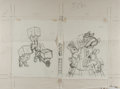 Books:Prints & Leaves, Garth Williams (1912-1996), illustrator. Original Pencil Sketch forCover Design of Animal ABC. Initialed by William...