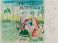 Books:Prints & Leaves, Garth Williams (1912-1996), illustrator. Original Art for TheGolden Name Day Cover Design. Signed by Williams. ...