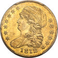 Early Half Eagles, 1812 $5 MS62 PCGS. CAC. BD-2, High R.4....