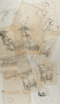 Books:Prints & Leaves, Garth Williams (1912-1996), illustrator. Thirteen (13) Original Preliminary Pencil Sketches for Push Kitty. Most are...