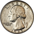 Washington Quarters, 1965 25C -- Struck on a 90% Silver Planchet -- AU55 NGC.Breen-4416....