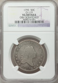 Early Half Dollars, 1795 50C 2 Leaves -- Obverse Scratched -- NGC Details. VG. O-119,R.4....