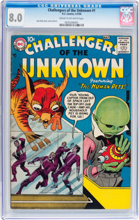 Challengers of the Unknown #1 (DC, 1958) CGC VF 8.0 Cream to off-white pages