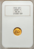 Commemorative Gold, 1922 G$1 Grant With Star MS64 NGC....