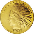 "Indian Eagles: , 1907 $10 Wire Rim MS63 NGC. Jeff Garrett and Ron Guth, in theirEncyclopedia of U.S. gold Coins, 1795-1933, write: ""The..."