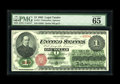 Large Size:Legal Tender Notes, Fr. 16 $1 1862 Legal Tender PMG Gem Uncirculated 65 EPQ. This notehas a lovely appearance and its paper originality is evid...