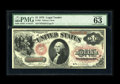 Fr. 20 $1 1875 Legal Tender PMG Choice Uncirculated 63 EPQ. The colors are super on this note that appears to be a Gem i...