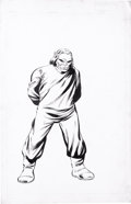 """Original Comic Art:Sketches, John Byrne and Joe Rubinstein - The Official Handbook of the Marvel Universe Deluxe Edition #7, """"Mad Thinker"""" Pin-Up page 51 O..."""