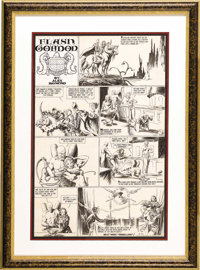 Alex Raymond - Flash Gordon Sunday Comic Strip Original Art, dated 5-26-35 (King Features Syndicate, 1935). For many col...