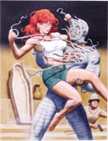 Original Comic Art:Sketches, Steve Fastner and Rich Larson - Mummy and the Red-head Illustration Original Art (undated). Lara Croft -- eat your heart out...