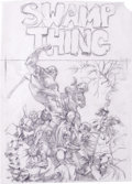Original Comic Art:Covers, Bernie Wrightson - Swamp Thing #5 Cover Preliminary Original Art(DC, 1972). The towering figure of an enraged Swamp Thing d...