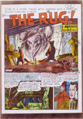 Original Comic Art:Miscellaneous, Marie Severin - Shock SuspenStories #1 Complete Story Color GuideProduction Art, Group of 4 (EC, 1952). EC colorist Marie S...
