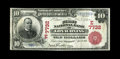 National Bank Notes:Maryland, Lonaconing, MD - $10 1902 Red Seal Fr. 613 The First NB Ch. #(E)7732. This is the first appearance of a Red Seal on thi...