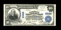 National Bank Notes:Maryland, Oakland, MD - $5 1902 Plain Back Fr. 624 The Garrett NB Ch. # 6588.This previously unreported $10 was folded into third...