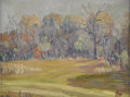 Texas:Early Texas Art - Impressionists, E. J. HARDY (dec.). Autumn Landscape, 1930. Oil oncanvasboard. 9in. x 12in.. Signed and dated lower right. E. J.Hard...