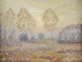 Texas:Early Texas Art - Impressionists, E. J. HARDY (dec.). Sunrise Among the Trees, 1930. Oil oncanvasboard. 9in. x 12in.. Signed lower left. This painting ...