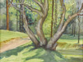 Texas:Early Texas Art - Regionalists, KATHRYNE HAIL TRAVIS (1894-1972). Three Forked Tree Near HighRolls, NM. Watercolor. 12in. x 16in.. Signed lower left. S...