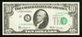 Error Notes:Shifted Third Printing, Fr. 2020-L $10 1969B Federal Reserve Note. Very Fine-Extremely Fine.. ...