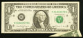 Error Notes:Foldovers, Fr. 1915-H $1 1988A Federal Reserve Note. Extremely Fine.. ...