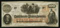 Confederate Notes:1862 Issues, T41 $100 1862 PF-60 Cr. UNL.. ...