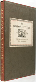 Books:Americana & American History, Francis G. Walett, Introduction. The Boston Gazette 1774.Barre: The Imprint Society, 1972. Edition limited to 1950,...