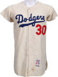 Baseball Collectibles:Uniforms, 1963 Maury Wills Game Worn Los Angeles Dodgers Jersey....