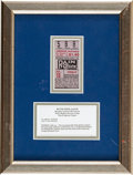 Baseball Collectibles:Tickets, 1934 New York Yankees vs. Detroit Tigers Ticket Stub, Babe Ruth's700th Home Run, PSA/DNA Good 2....