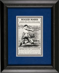 Autographs:Photos, Early 1980's Roger Maris Signed Photograph Card, PSA/DNA Mint 9....