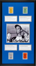 Baseball Collectibles:Tickets, 1962-65 Sandy Koufax No-Hitters Ticket Stubs Display....