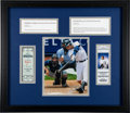 Baseball Collectibles:Tickets, 1995-2011 Derek Jeter 1st Hit & 3,000th Hit Full TicketsDisplay....