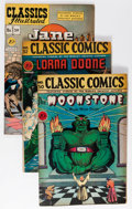 Golden Age (1938-1955):Classics Illustrated, Classic Comics/Classics Illustrated Group (Gilberton, 1946-47) Condition: Average VG/FN.... (Total: 6 Comic Books)