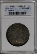 Early Half Dollars: , 1806 50C 6 Over Inverted 6--Cleaned--ANACS. Fine 12 Details. O-112,R.4....