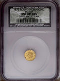 California Fractional Gold: , 1872 50C Indian Round 50 Cents, BG-1049, R.4, --Obverse PlanchetFlaw--CSN. Unc Details. PCGS Population...