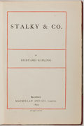 Books:Literature Pre-1900, Rudyard Kipling. Stalky and Co. London: MacMillan, 1899.First edition. Octavo. 272 pages. Rebound in half calf and ...