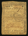 Continental Currency February 17, 1776 $1/2 Very Fine
