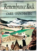 Books:Literature 1900-up, Carl Sandburg. SIGNED. Remembrance Rock. New York: HarcourtBrace, 1948. First trade edition. Signed by the author. ...