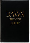Books:Literature 1900-up, Theodore Dreiser. SIGNED. Dawn. New York: Liveright, 1931.Edition limited to 275 copies. Signed by the author below...