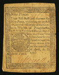 Colonial Notes:Pennsylvania, Pennsylvania April 10, 1777 9d Very Good-Fine.. ...
