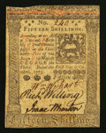 Colonial Notes:Pennsylvania, Pennsylvania October 1, 1773 15s Extremely Fine.. ...