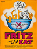 "Movie Posters:Animation, Fritz the Cat (Nef Diffusion, R-1980s). French Grande (45.75"" X 61""). Animation.. ..."