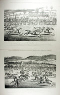 Books:Prints & Leaves, Group of Two Prints of Herefordshire and Monmouthshire Grand HuntSteeple Chase: The Start and Coming In...