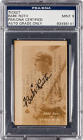 "Autographs:Others, 1920 Babe Ruth Signed Tex Rickard ""Headin' Home"" Card, PSA/DNA Mint 9...."